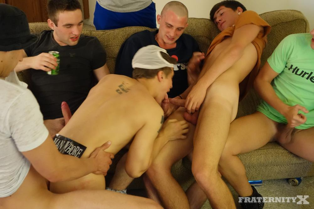 Amateur gangbang gay first time intent on 6