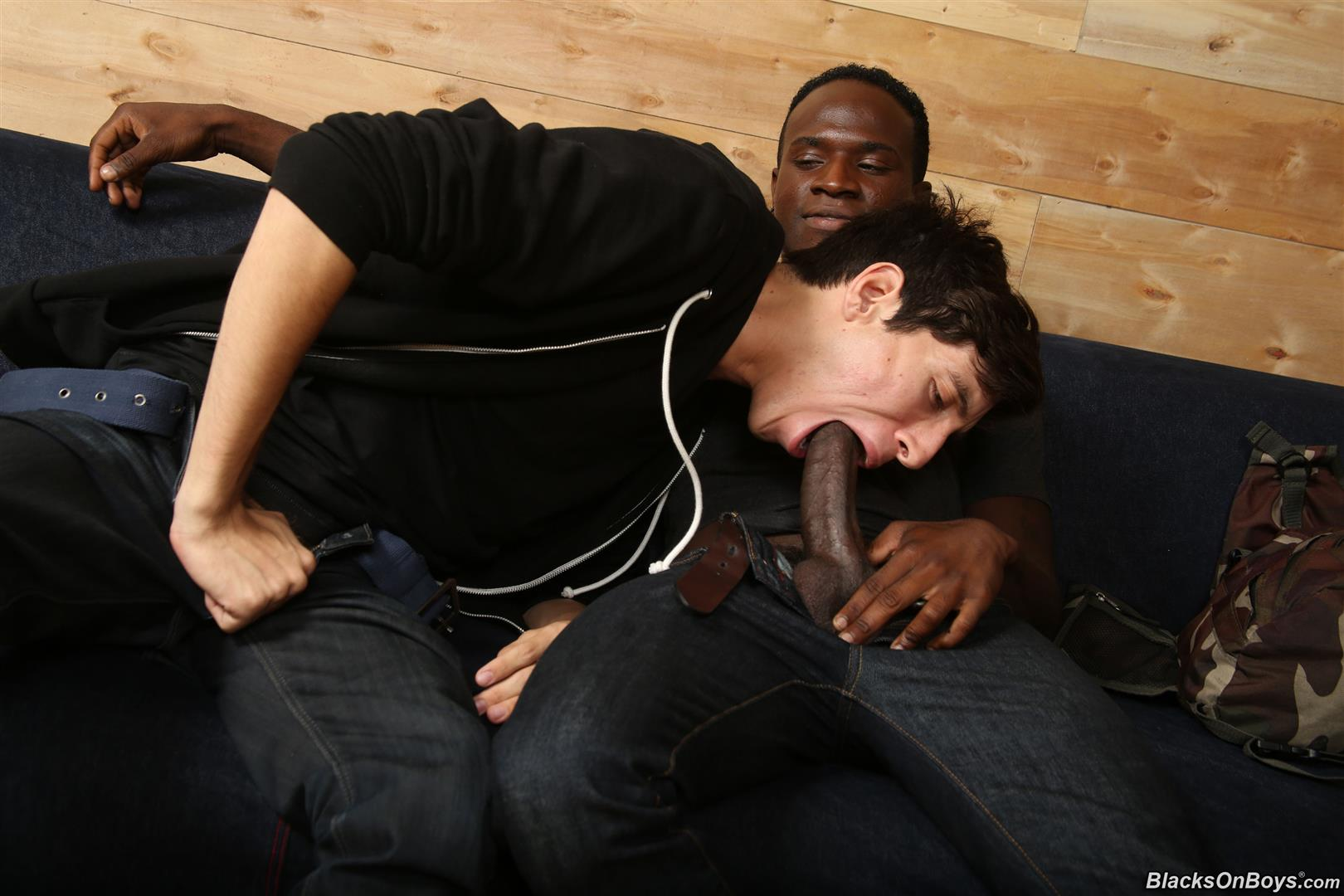 Blacks On Boys Billy Eastmore and Tyko Interracial Gay Fucking Amateur Gay Porn 04