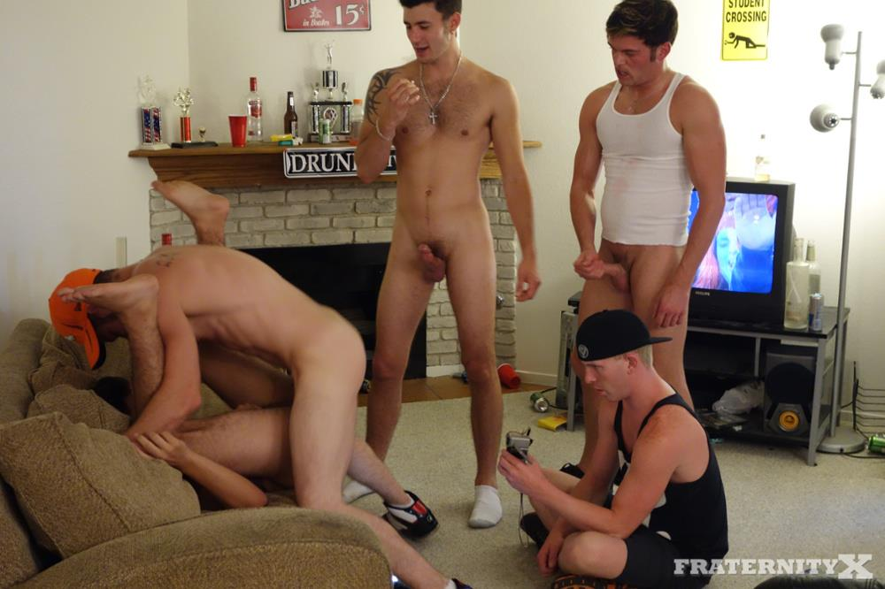 Fraternity X Dylan Frat Boys Barebacking The House Slut Amateur Gay Porn 15
