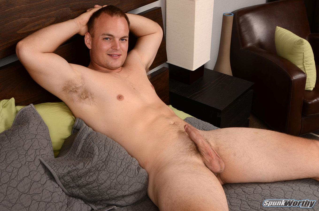 SpunkWorthy Cole Beefy Young Marine Jerking Off His Big Cock Masturbation Amateur Gay Porn 07