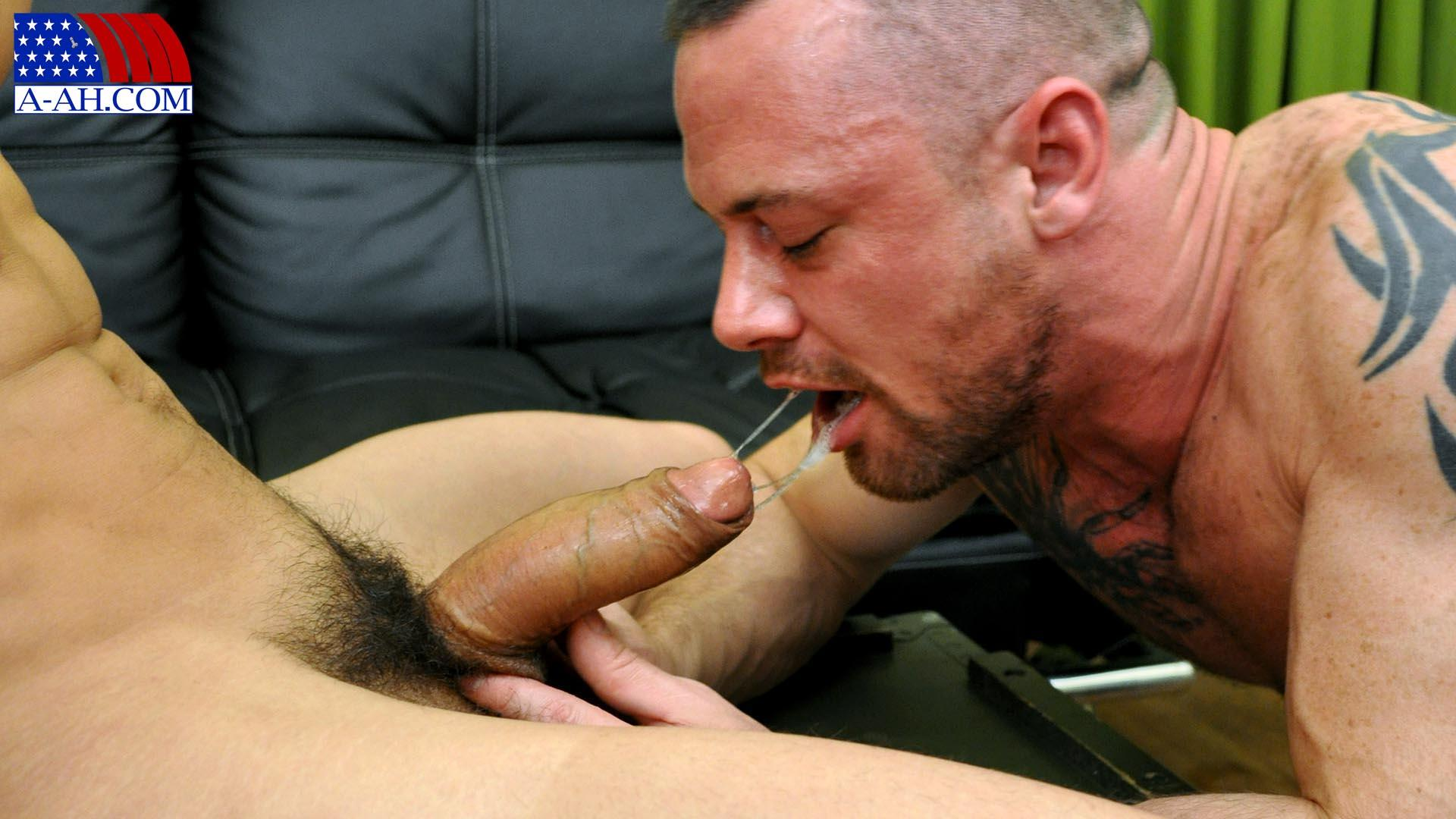 All American Heroes Navy Petty Officer Eddy fucking Army Sergeant Miles Big Uncut Cock Amateur Gay Porn 05