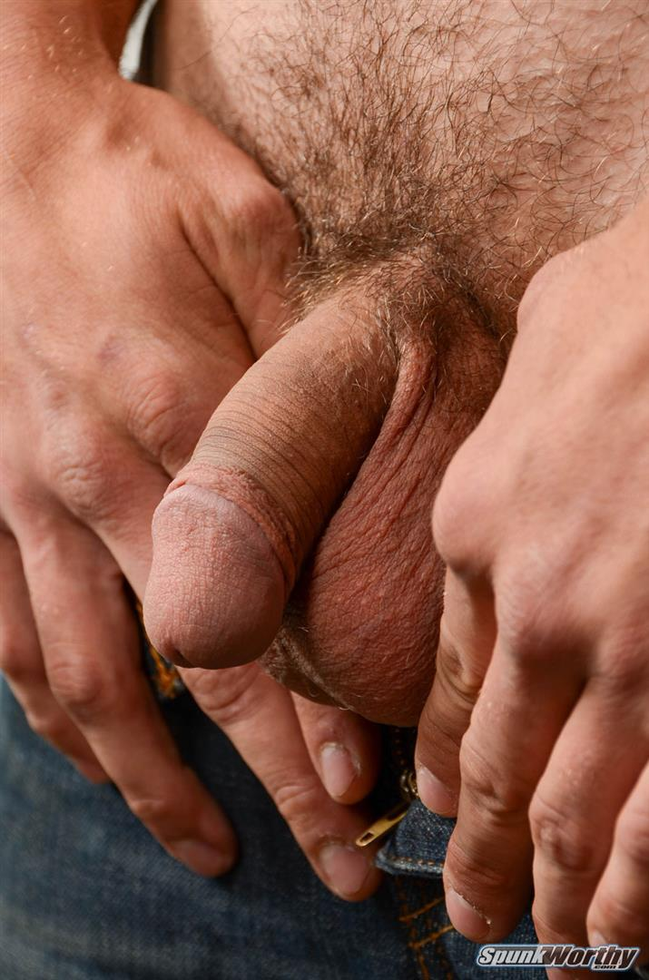 SpunkWorthy Jake Straight Hairy Navy Bear Cub Jerking Off Amateur Gay Porn 04