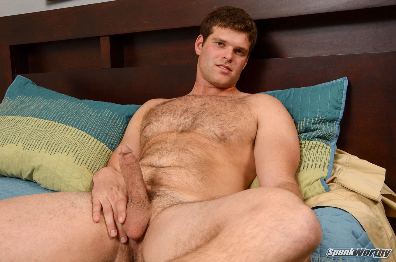 SpunkWorthy Jake Straight Hairy Navy Bear Cub Jerking Off Amateur Gay Porn 08