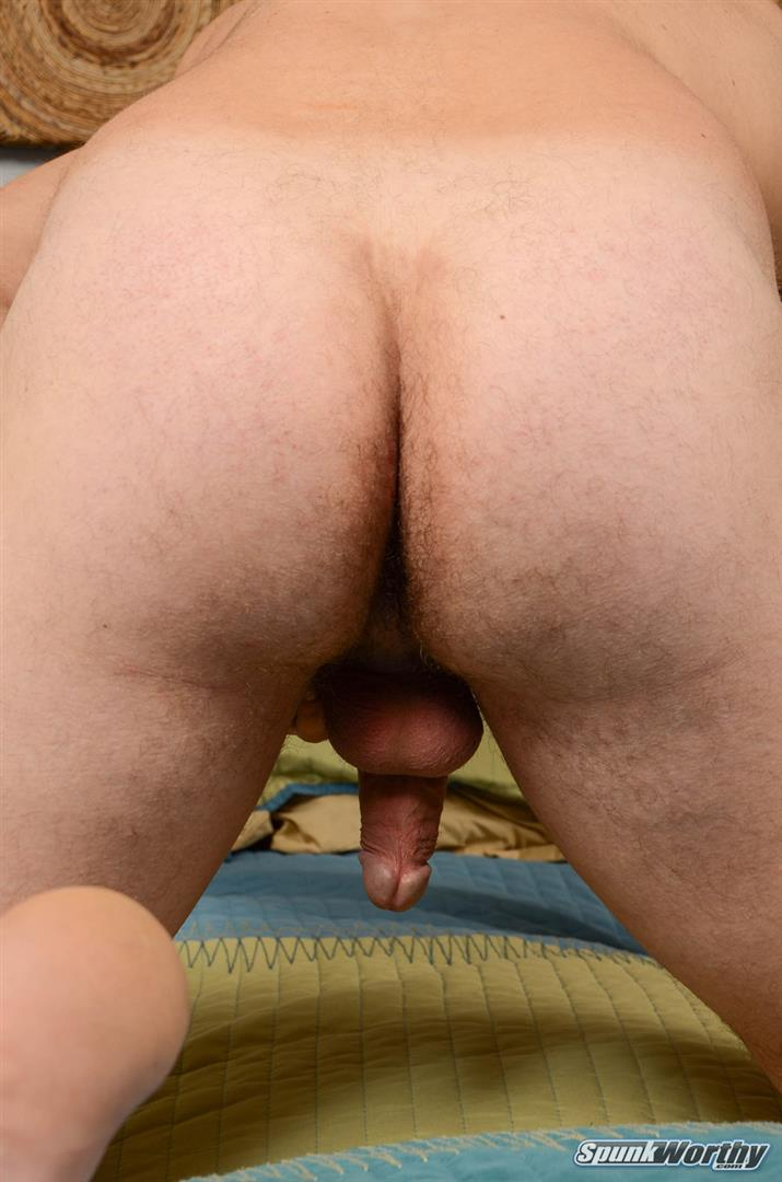 SpunkWorthy Jake Straight Hairy Navy Bear Cub Jerking Off Amateur Gay Porn 13