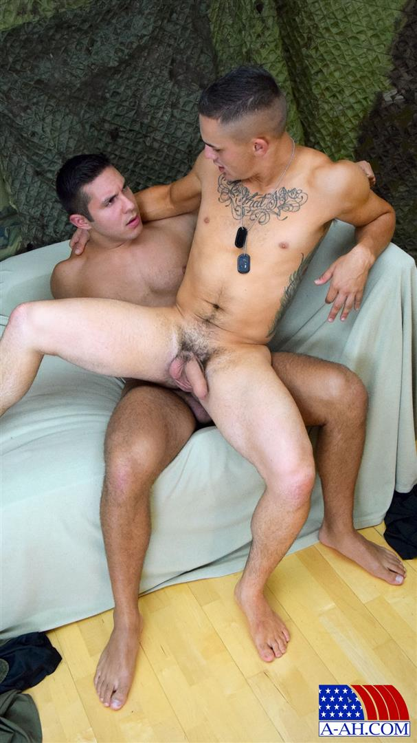 All American Heroes Seth and Roque Army Private Barebacking a Marine Amateur Gay Porn 09