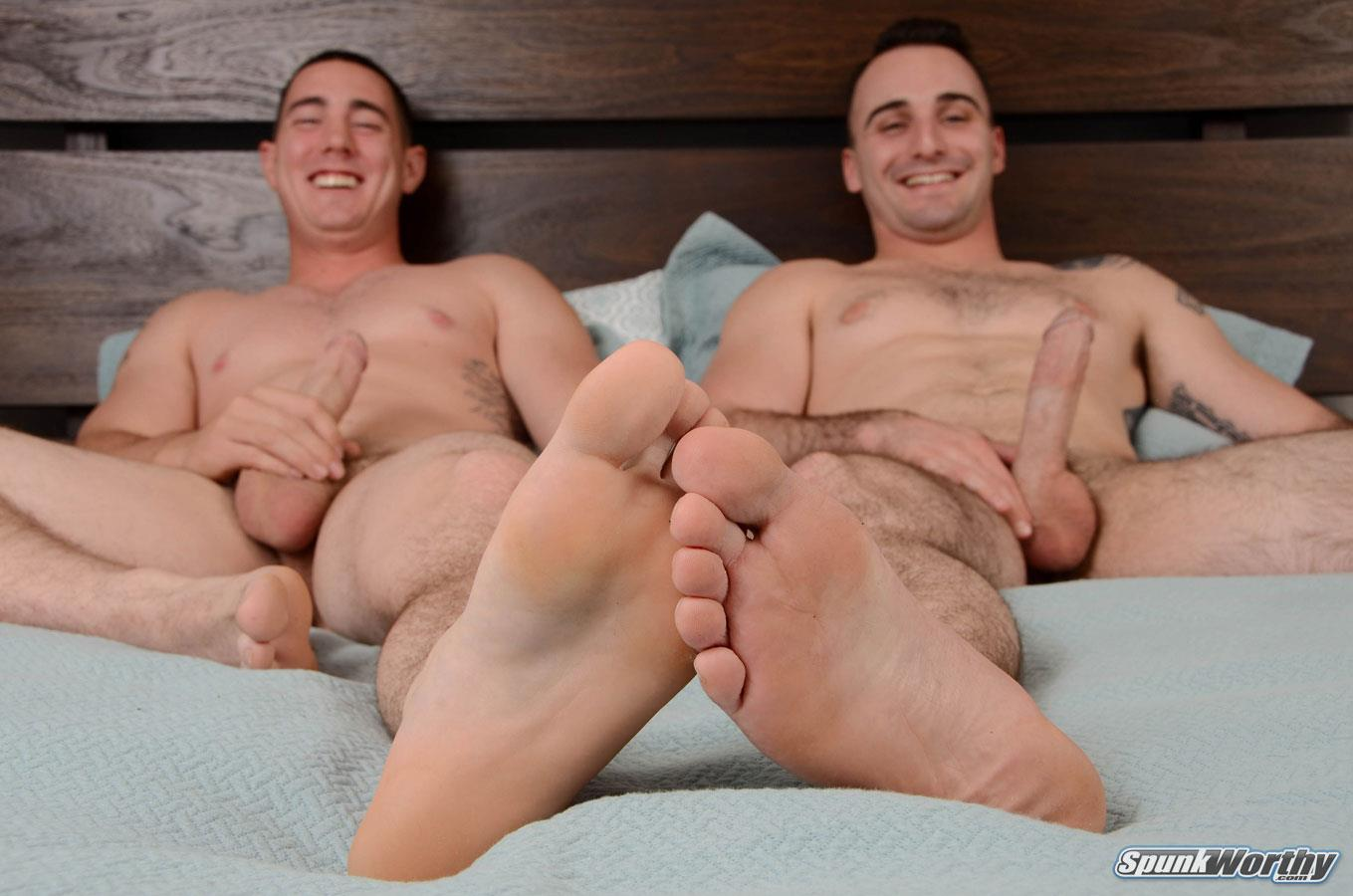 SpunkWorthy Damien and Tom Army Buddies Jerking Off Together Army Cock Amateur Gay Porn 07