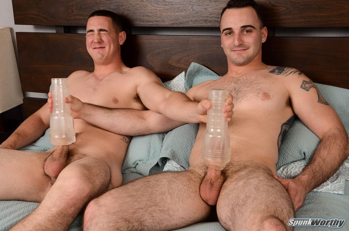 SpunkWorthy Damien and Tom Army Buddies Jerking Off Together Army Cock Amateur Gay Porn 15