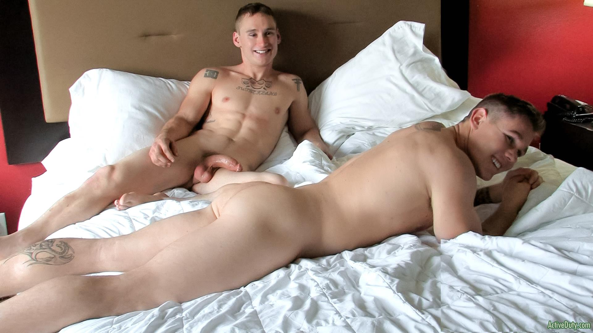 Active Duty Randy and Tim Straight Army Guys Fucking Muscle Cock Amateur Gay Porn 15