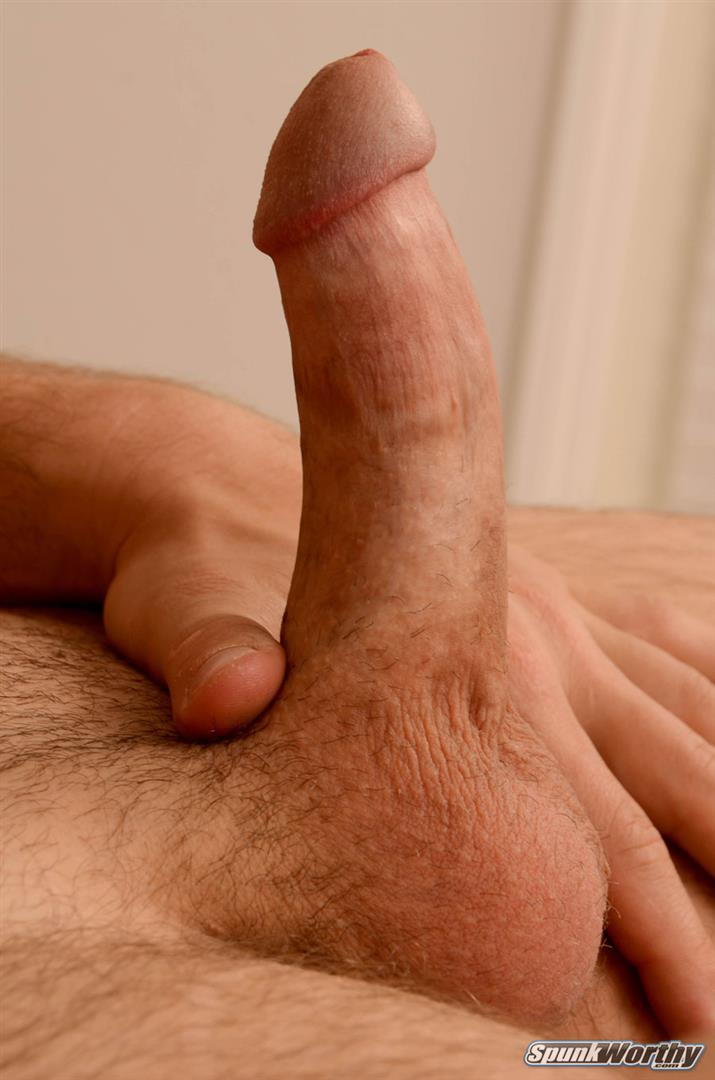 Guy Stroking His Dick