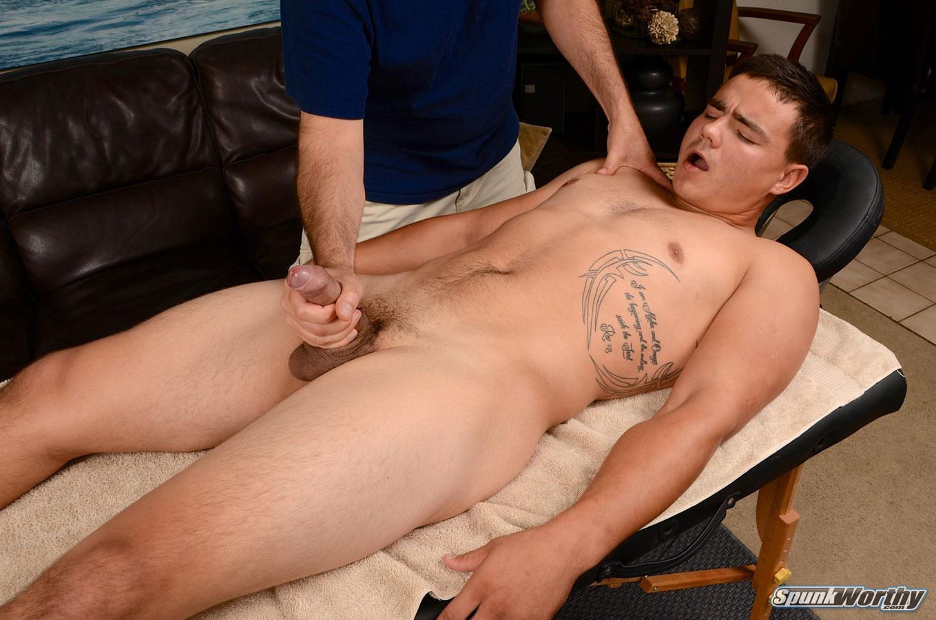 David039s cock massage straight guy seduced for gay porn 8