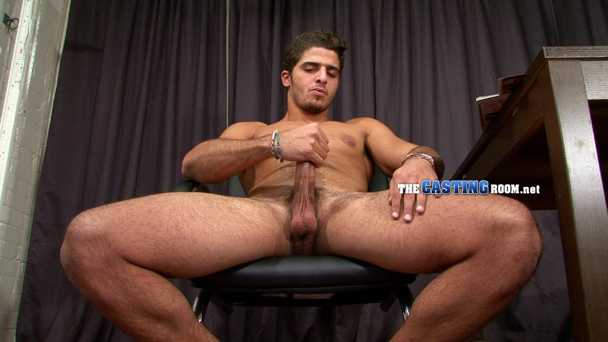 The Casting Room Hossam Naked Arab Jerking Big Arab Cock Amateur Gay Porn 14