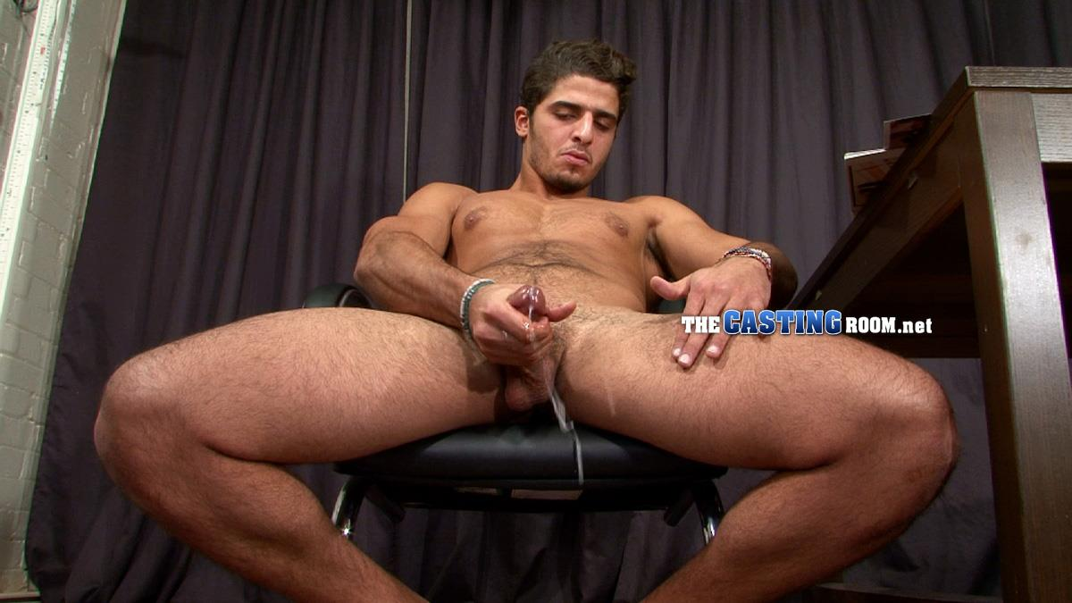 The Casting Room Hossam Naked Arab Jerking Big Arab Cock Amateur Gay Porn 16