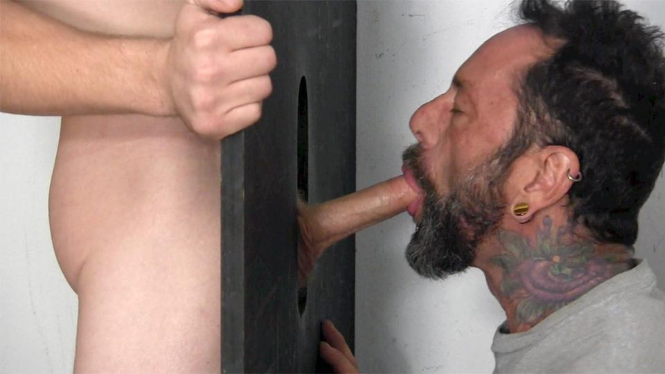 Straight Fraternity Donny Forza Straight Guy Getting Sucked Through Gloryhole Amateur Gay Porn 06