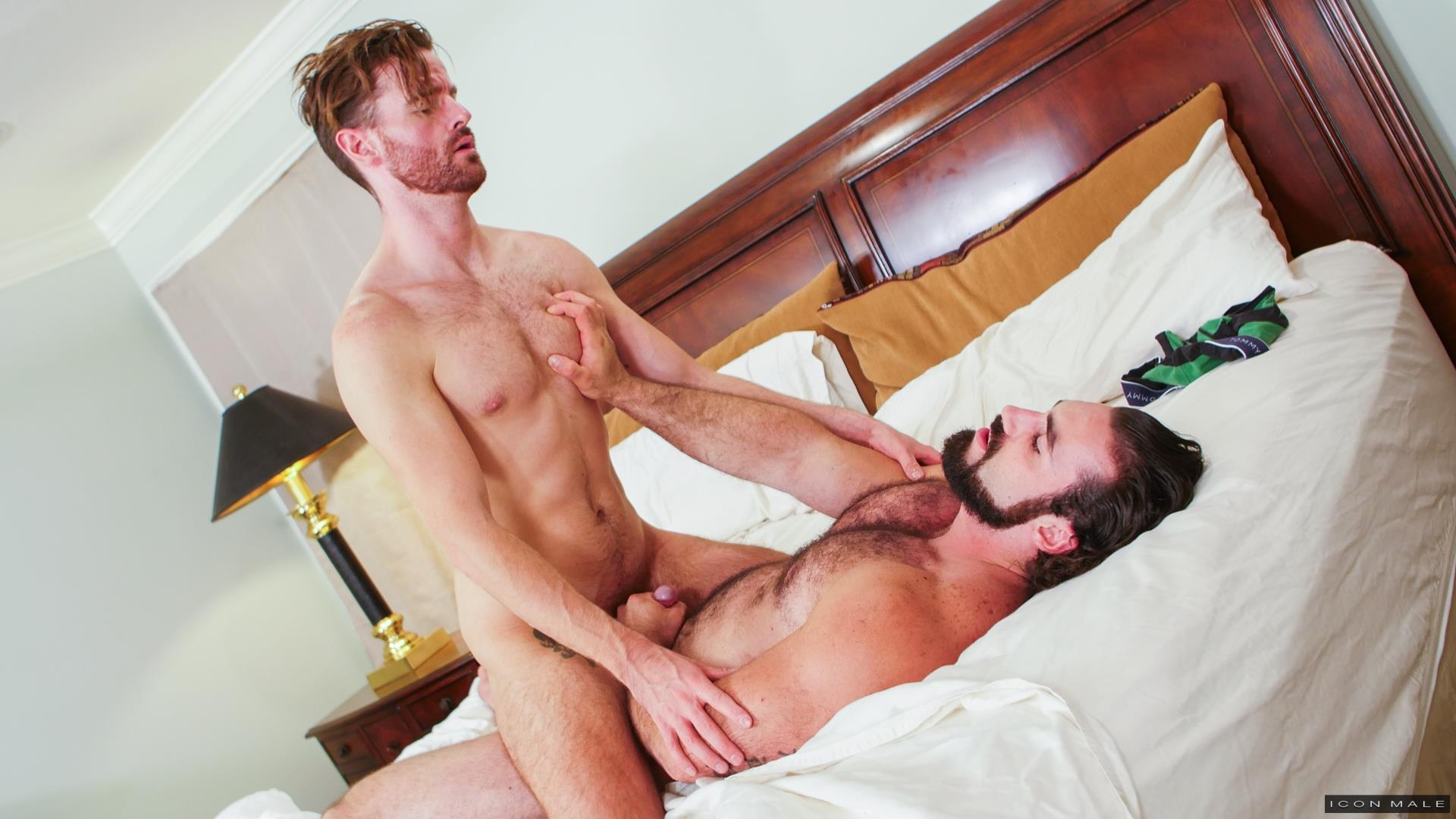 Icon Male Brendan Patrick and Jaxton Wheeler Hairy Muscle Hunk Fuck Amateur Gay Porn 13